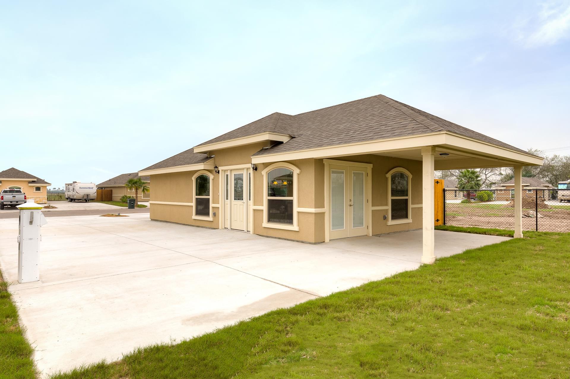 The RV Casita new home in ,