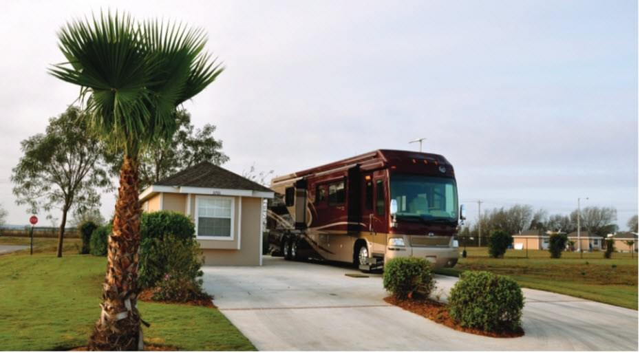 The RV Coach House new home in Mission , TX